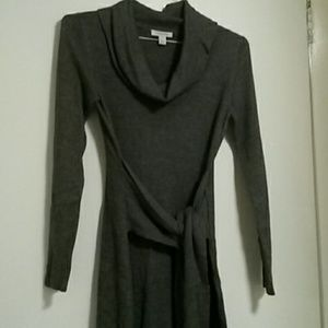 Boston Proper heather gray sweater dress