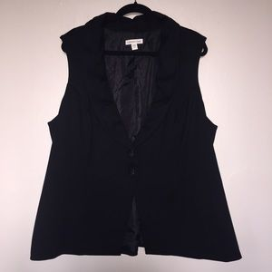 Coldwater Creek Jackets & Blazers - Classic Long Vest in Black