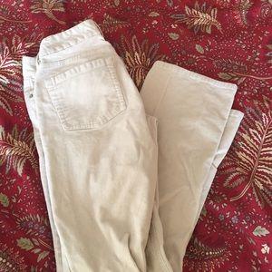 J crew Corduroy white pants straight cut.