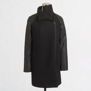 J. Crew Jackets & Blazers - Leather-sleeve envelope coat