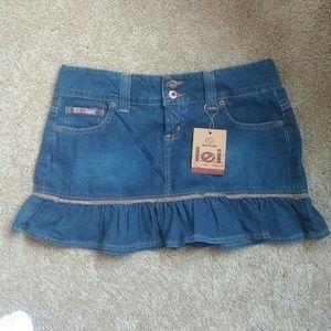 lei Dresses & Skirts - l.e.I. denim ruffle skirt