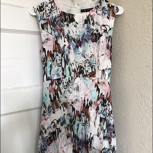French connection multi color short dress