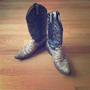 Dan Post Shoes - Genuine Dan Post snakeskin cowboy boots