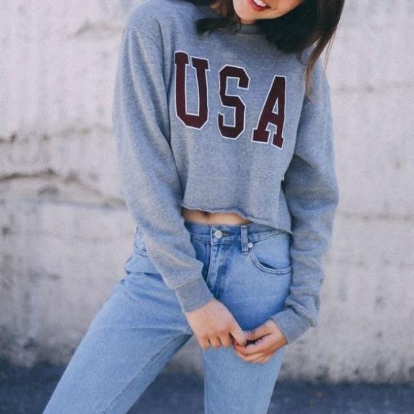 d726756a1d8 Brandy USA Cropped Sweatshirt