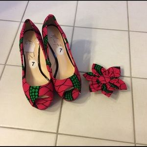 Marc Fisher Shoes - Custom made shoe 👠 with African prints.