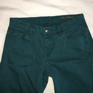 Blank NYC Denim - Teal skinny jeans