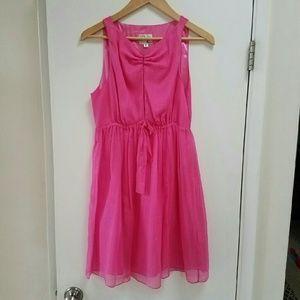 Milly Dresses & Skirts - Milly Pink Silk Chiffon Sleeveless Dress 6