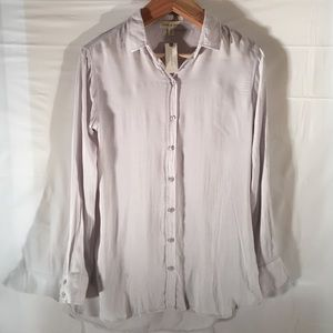 NWT Anthropologie Cloth and stone light gray shirt