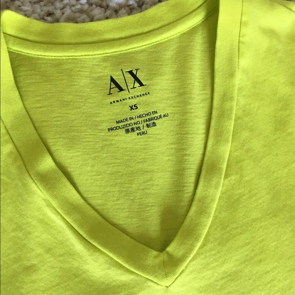 1553310fdb48 A X Armani Exchange Shirts   Armani Exchange Neon Color Men T Shirt ...