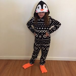 Justice Other - Justice Penguin Onesie with Detachable Feet NWOT
