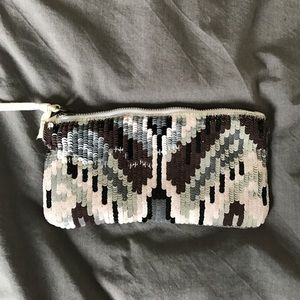 cloth clutch with sequins from Urban Outfitters