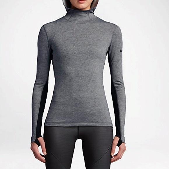 Nike Pro Hyperwarm Women's Hoodie Grey Large NWT NWT