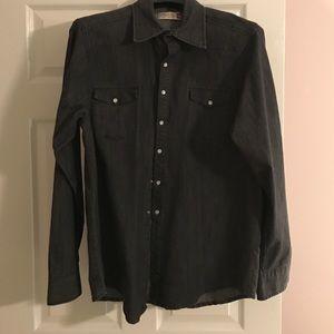 Sovereign Code Other - Cool men's black denim shirt.