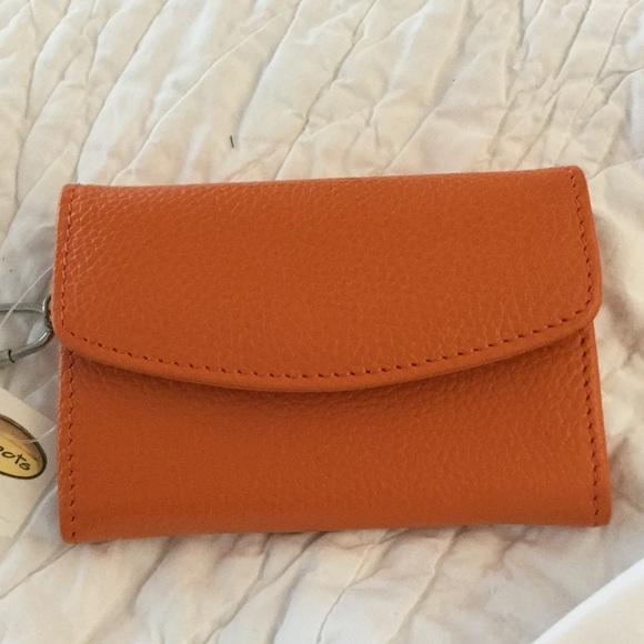 Talbots Handbags - Talbots small orange leather purse