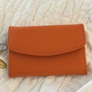 Talbots Bags - Talbots small orange leather purse