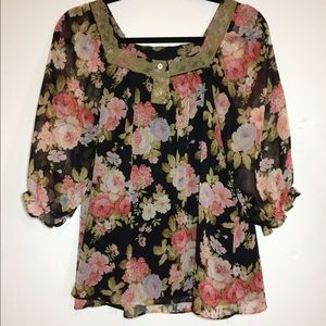 NY Collection Tops - Macy's Floral Top