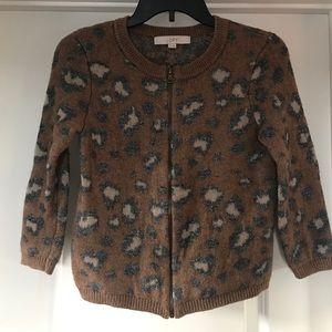 Ann Taylor LOFT Metallic Leopard Print Jacket