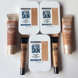 Maybelline foundation, powder, concealed set