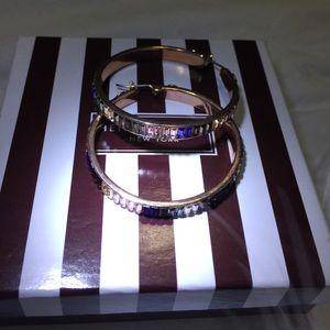 henri bendel Jewelry - Henri Bendel Rose Gold hoops