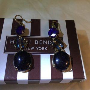 henri bendel Jewelry - Henri Bendel 3 tier gem earrings