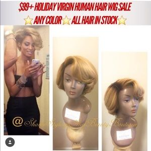 Platinum Blonde Short Wig