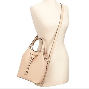 NWT. Faux leather small crossbody tote