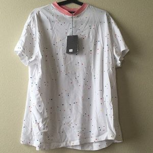 Lazy Oaf Tops - Lazy oaf looooong sprinkly tee o/s