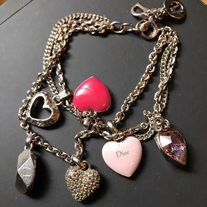 ⚡️FLASH SALE Christian Dior Hearts Charm Bracelet