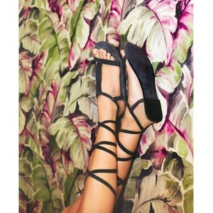 🆕 Free People Suede Lace Up Sandals
