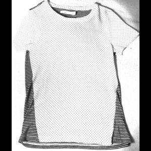 Madewell polka dots & stripes top