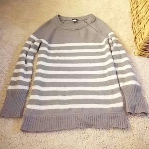 J. Crew Sweaters - J. Crew Gray Stripped Sweater