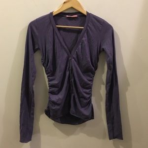 Velvet Tops - Velvet By Graham And Spencer Purple Button Shirt