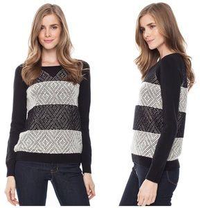 Splendid Sweaters - Splendid Jacquard Striped Pullover Sweater