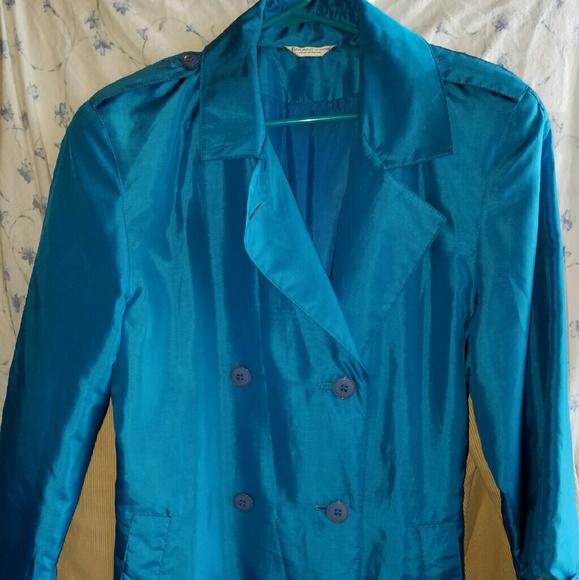 81dee2c66bd67 Forecaster of Boston Jackets   Blazers - Forecaster of Boston Women s blue  trench coat