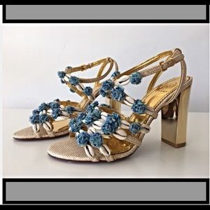 Tory Burch Shoes - Tory Burch Ambrosia shell sandals. Hard to find!!!