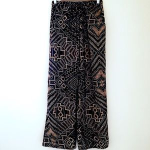 Just One Pants - Palazzo Pants with Multi-Colored Tribal Design