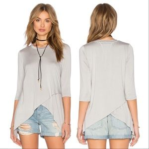 Bloomingdale's Tops - Benjamin Jay Tulip Tee Gray Crossover Envelope Top