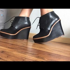 Kooba Shoes - Kooba Suede and leather Black Wedge Bootie NEW