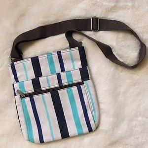 SOLD Thirty-One Stripe Organizing Crossbody Bag