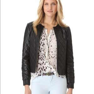 DVF Delilah quilted leather jacket 6