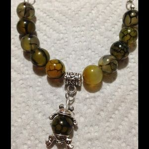 PeaceFrog Jewelry - 🎉HP 4/8🎉Frog Green Agate Silver Necklace