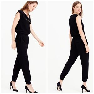 J. Crew Black Zipper Sleeveless Jumpsuit 8T