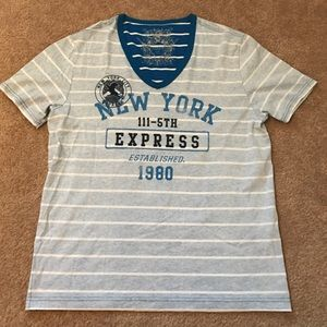 Express men's vneck graphic tee!! Size large