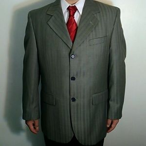Stacy Adams Other - NEW striped tan suit jacket