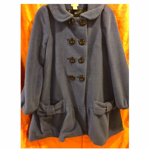 Jackets Size amp; Bow Coat Blue 6 Anthropologie Coats Swing Wool ARd1AZwx
