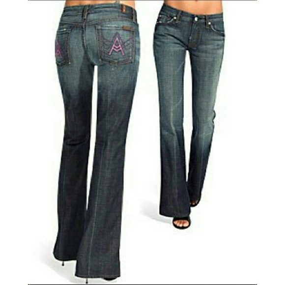 68% off 7 For All Mankind Denim - 7 For All Mankind Pink 'A ...