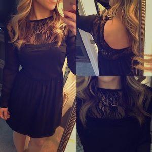 Zara Dresses & Skirts - Zara TRF lace yoke dress long sleeve s