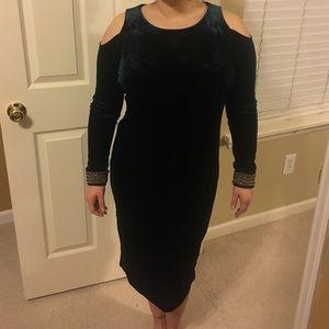 Cato Dresses & Skirts - Velvet green dress new with tags