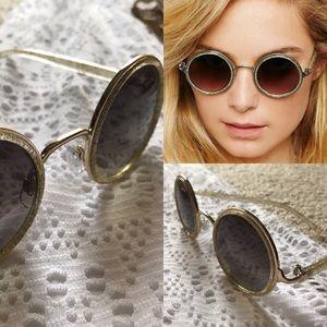 NWT free people glitter round sunglasses