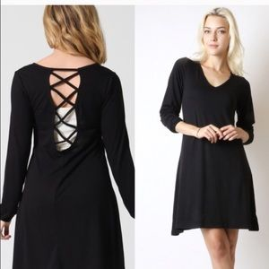 Casual open back dress!